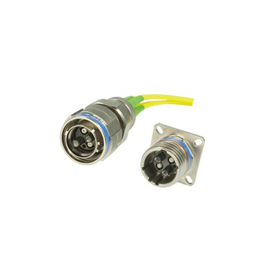 MIL-38999 DM Ruggedised Fibre Optic Connector